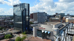 Broad Street from The Library of Birmingham