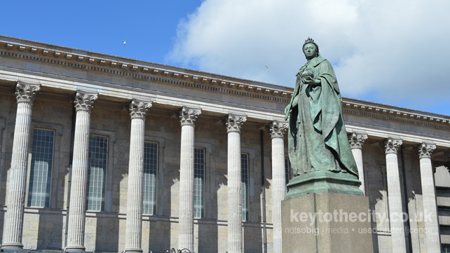 Queen Victoria Statue and Town Hall, Birmingham