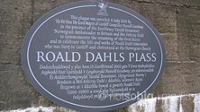 Plaque Commemorating Roald Dahl, Cardiff Bay