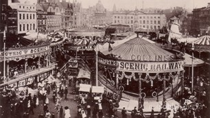 Old Postcard of the Goose Fair, Nottingham